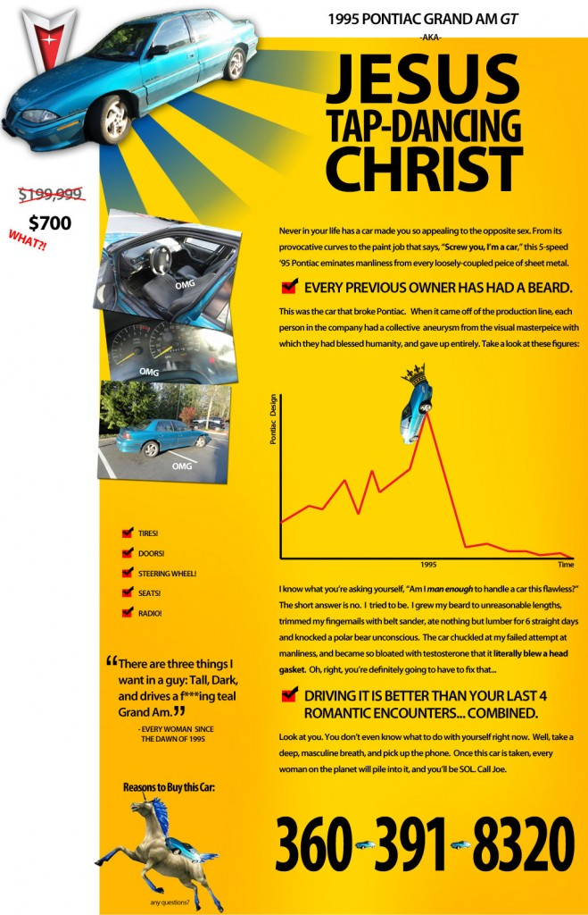 best craigslist cars ad ever