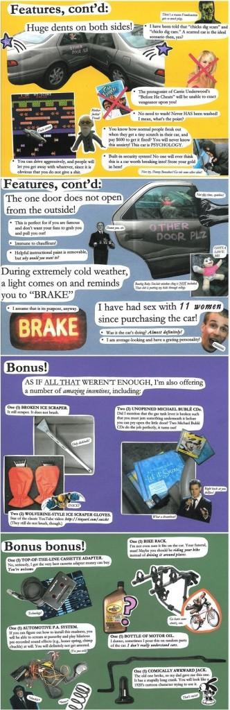 funny craigslist used cars ad
